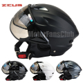 Motorcycle Bike Bicycle ZEUS Open Face Motorcycle Scooter Half Helmet  Visors DOT ECE Jet Pilot Helmet Style