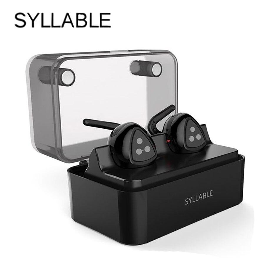 Mini casques Bluetooth syllabe sport sans fil dans l'oreille écouteurs stéréo mains libres pour iphone 5 6 7 téléphones portables Double oreille