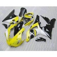 Precio barato ABS moldeado por inyección kit de carenados de la motocicleta para YAMAHA YZFR1 1998 1999 YZF R1 98 99 blanco amarillo cuerpo carenado kits