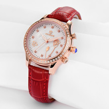 Wrist Watches For Women Quartz belt watch fashionable leather female watch gold white 50m waterproof watch Relogio Feminino