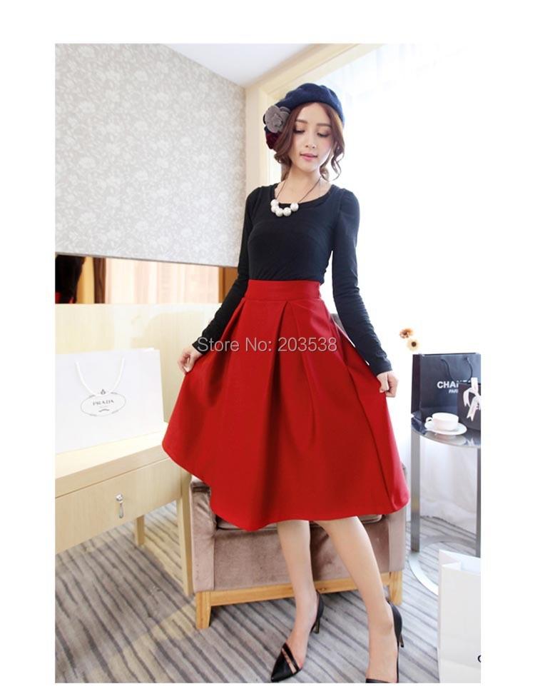 autumn and winter basic winter skirt