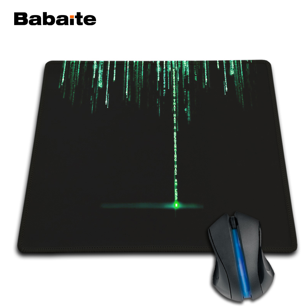 Babaite High Quality Durable Small Gaming Anti-slip Mouse Pad Matrix Durable Chic Mouse Pad 180x220x2mm Personalized Item