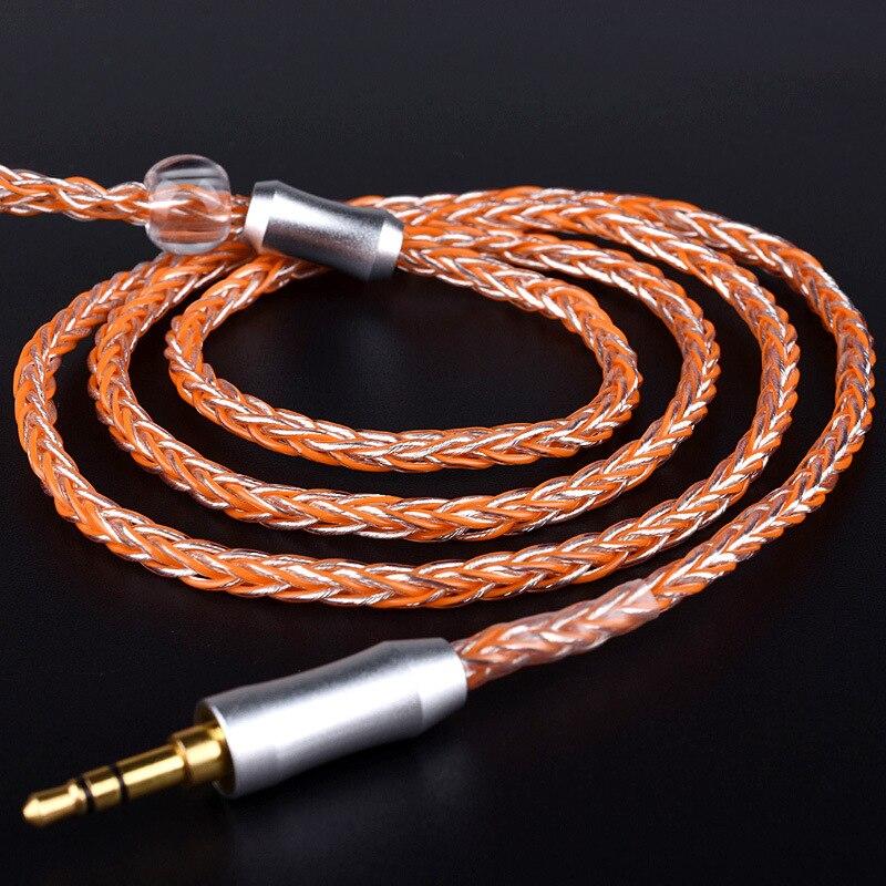 ZSFS 8 Cores OCC Argento Placcato Cavo Delle Cuffie Per CKR90 CKR100 ATH-CKS1100 LS70 LS50 LS200 LS300 LS400 E50 E70 Auricolare