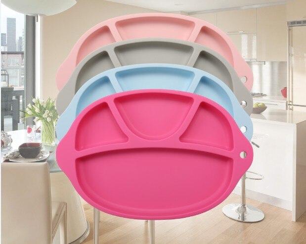 1PC New Fun Meal Mat Dětská silikonová deska pro děti sání na povrch Protiskluzová matná dětská prostírání LB 352