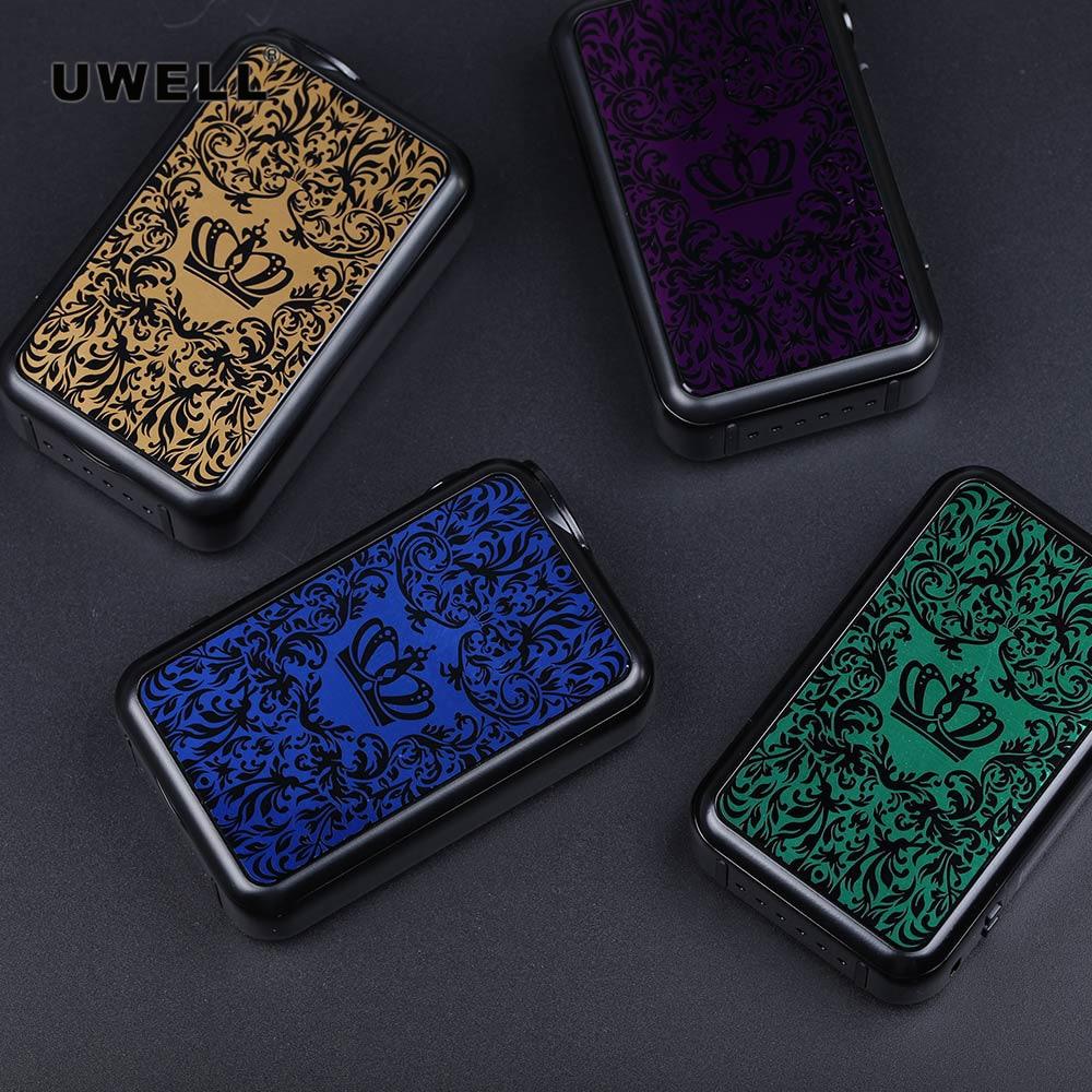 Original Uwell couronne 4 Mod boîte Mod 200 W puissance No 18650 boîte Mod Vape pour Uwell couronne 4 réservoir cigarette électronique mod électronique