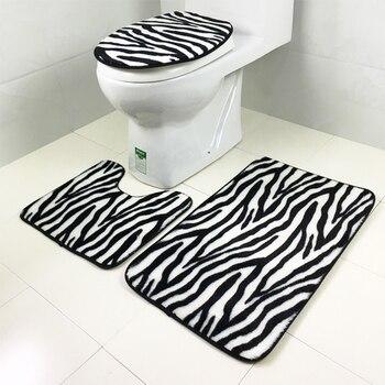alicelu 2017 marine tigers luipaard zebra dieren patroon decoraties badkamer slaapkamer tapijt kussens driedelige pvc stickers
