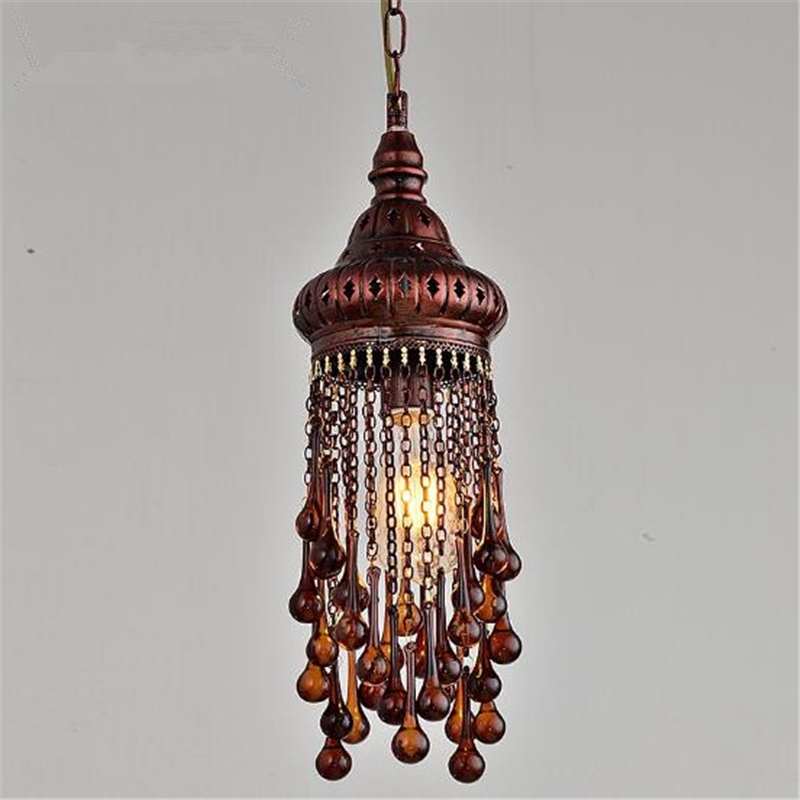 New Classical American Country Retro Loft Iron Pendant Light Retro Loft Cafe Bar Restaurant Decoration Lamp Free Shipping
