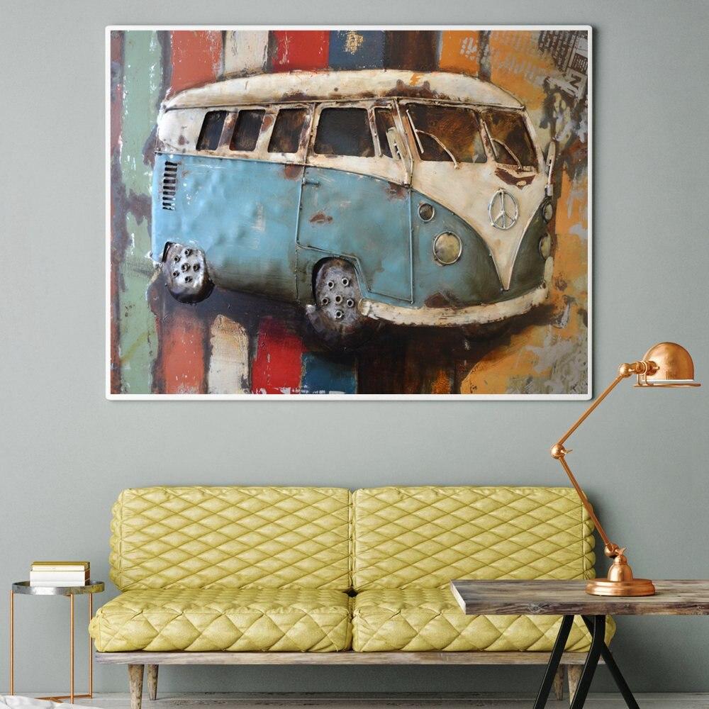 Quadri Per Sala Da Pranzo us $14.0  arte della parete della tela stampa vintage vecchia auto pittura  quadro per sala da pranzo ufficio a casa decorazione della parete retrò