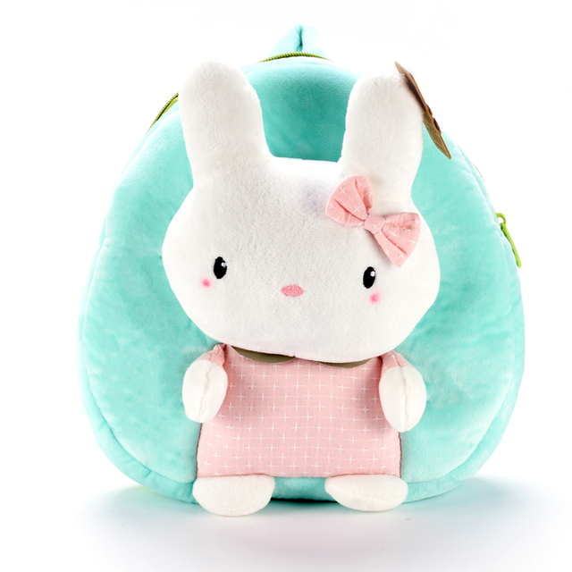 eeaec9f71cef Plush Cute Rabbit Backpacks Cartoon Bunny Backpack Best Birthday Gifts for  Kids Girls Light Weight 1-3 Years Olds 23 20cm
