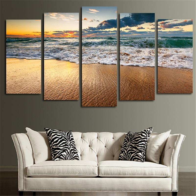 இPared arte lienzo pintura impreso paisaje marino cuadros modulares ...