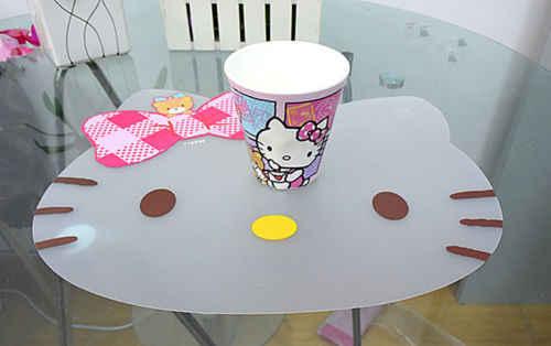 New Hello Kitty Tahan Air Makan Tikar Kartun Tabel Pad Anak-anak Tempat Mat Meja Yey-0120