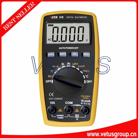 VICTOR 81D Multimeter victor electrician digital Multimeter tester multimeter Capacitance frequency temperature of the original