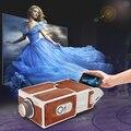 Cartão do telefone móvel do smartphone projetor diy projetor de cinema portátil sem fornecimento de energia