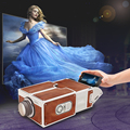 Smartphone Projector DIY Cardboard Mobile Phone Projector Portable Cinema Without Power Supply