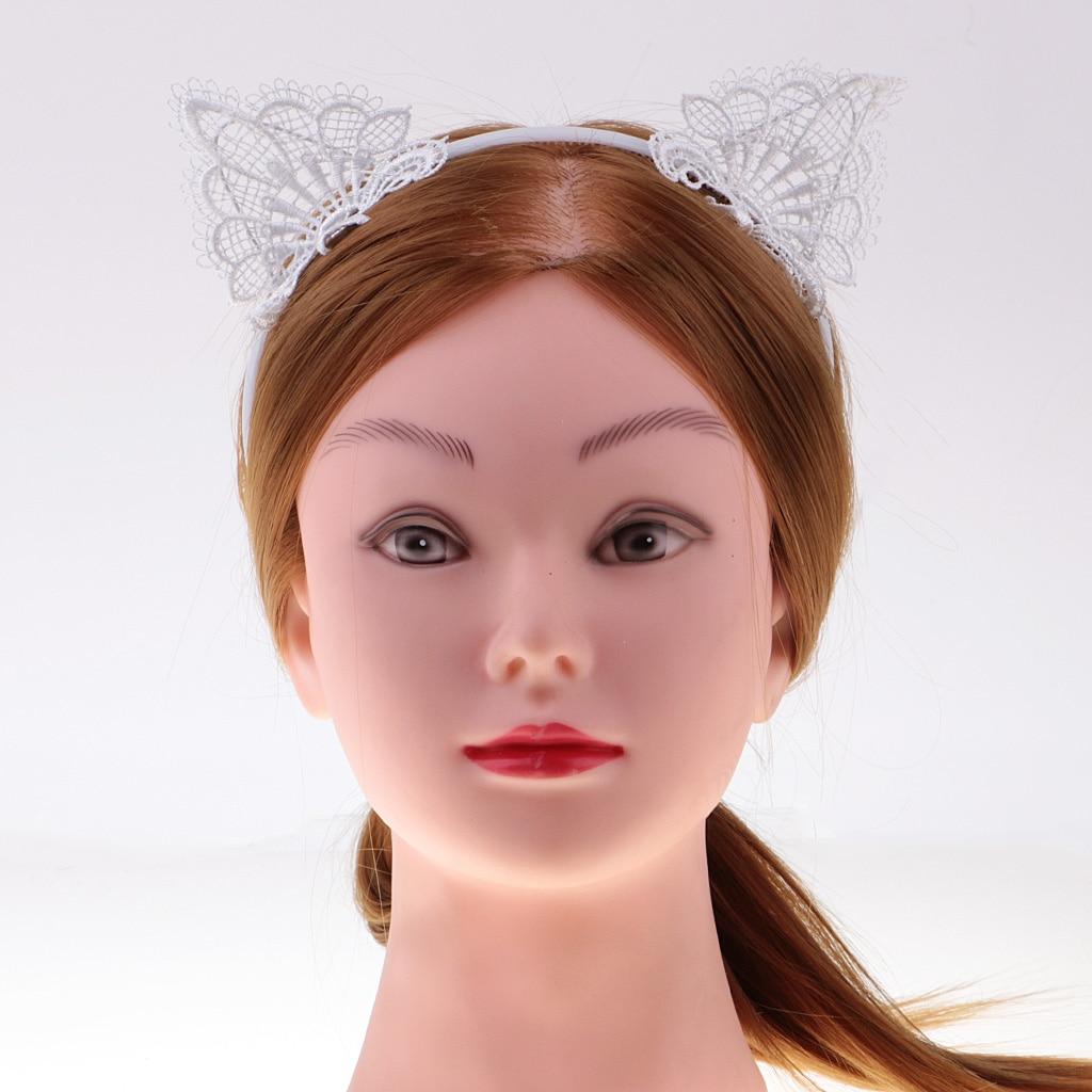 Hot Lace Cat Ear Headband Costume Girls Women Hen Night Party Fancy ...