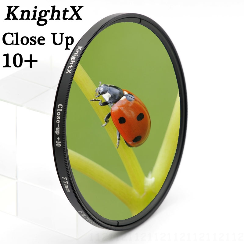 KnightX 52mm 58mm 67mm Macro Close-Up 10 Lens Filter For Sony A33 A35 A55 A65 with 18-55mm Petal Flower Lens Hood Filter Kit цена