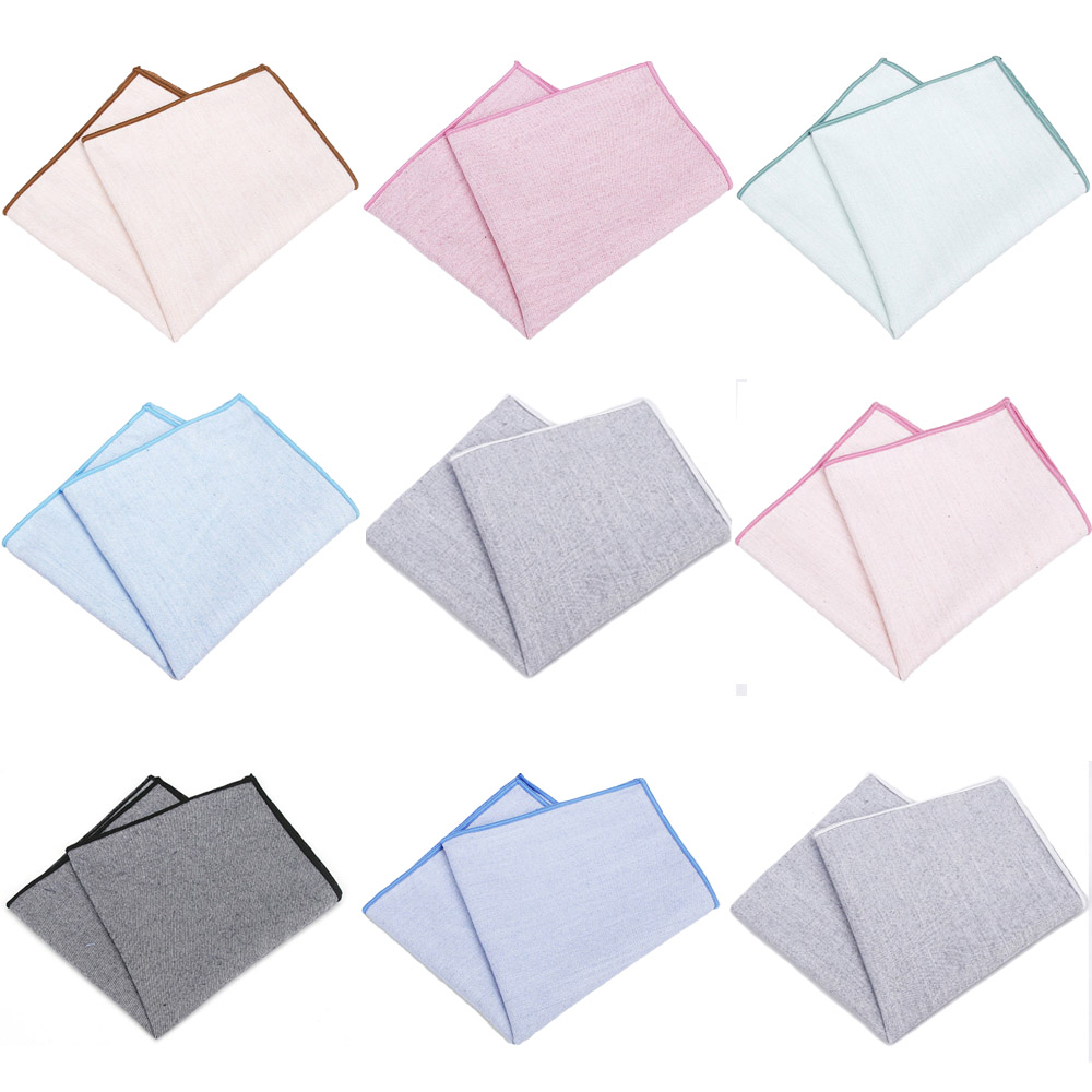 Men's Cotton Business Hanky Wedding Party Handkerchief Pocket Square HOT SALE YFTIE0250