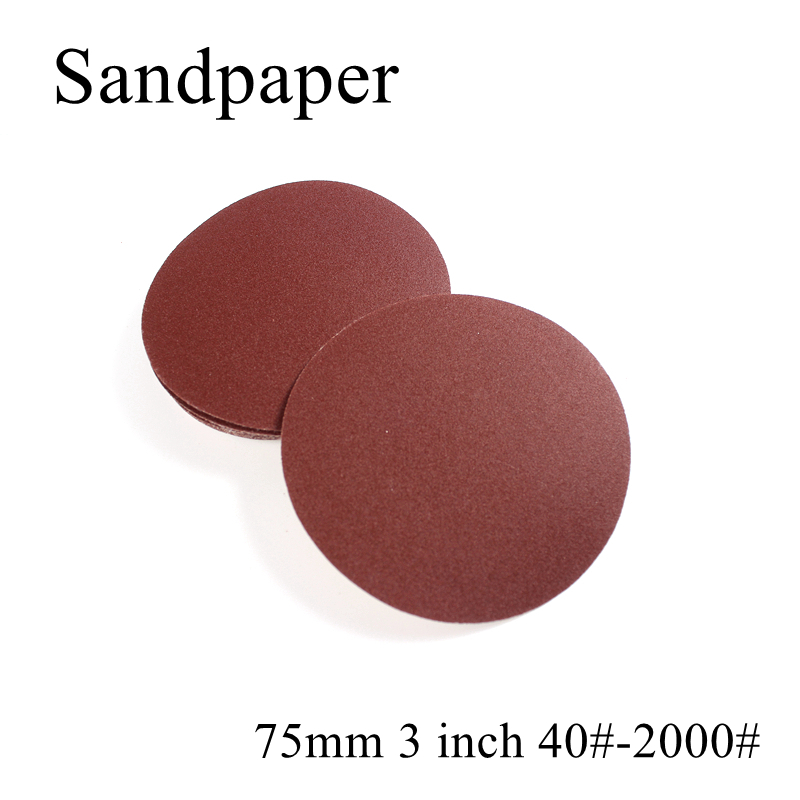 10pcs/lot <font><b>75mm</b></font> 3 inch 40-2000 Grit Round Sandpaper Disk Sand Sheets Holder Sanding <font><b>Disc</b></font> For Sander Grits Polishing Abrasive image