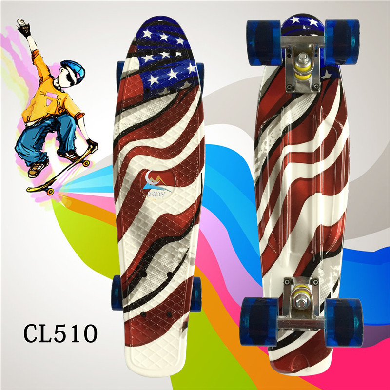 """Image 4 - Complete Plastic Skateboard 22"""" pney Board with Colorful Plastic Mini Fish Board forBoy Girl Mini Skate Crusier 6Types Available-in Skate Board from Sports & Entertainment"""
