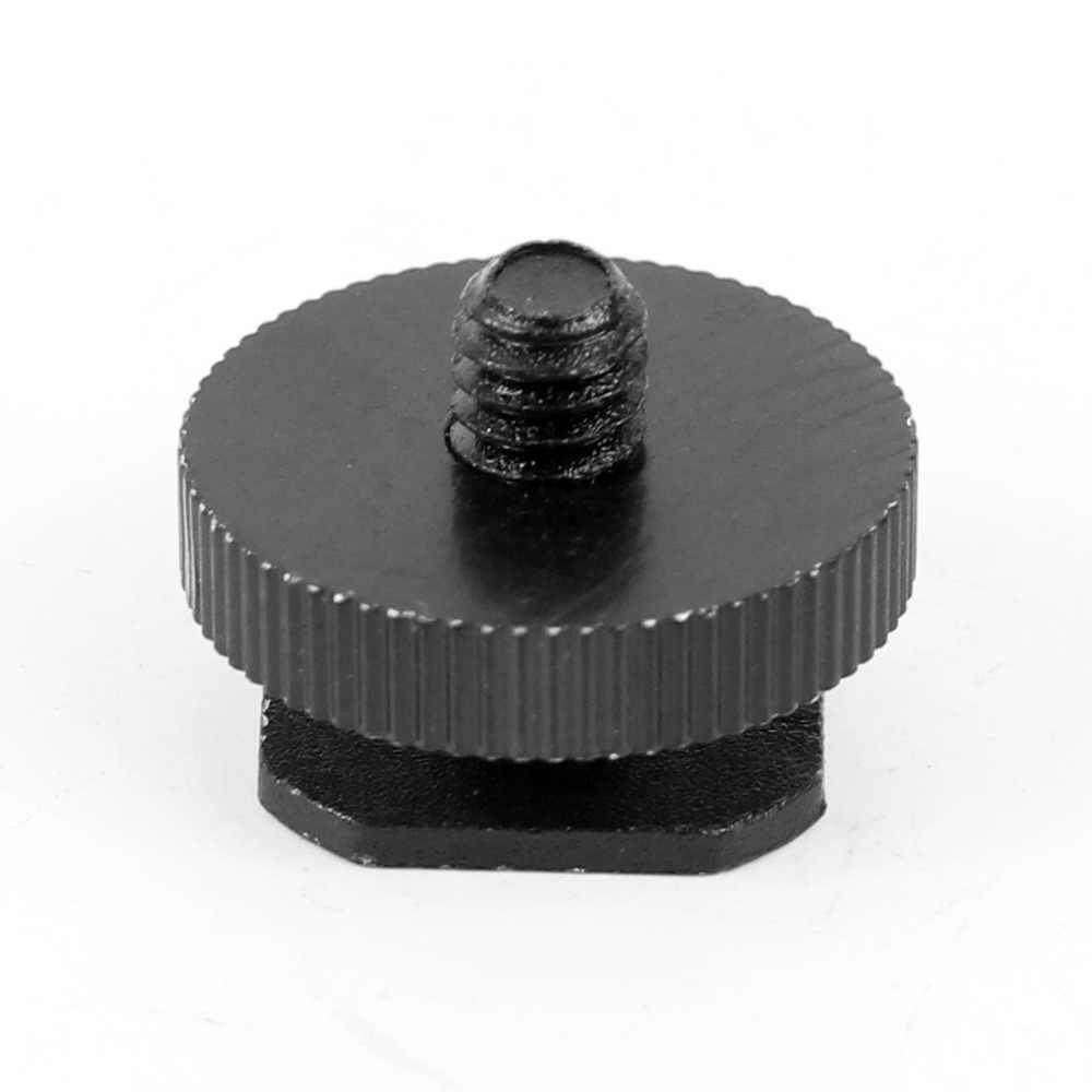 """1/4 Cal DSLR lampa błyskowa Hotshoe 1/4 """"śruba statywu, aby adapter gorącej stopki mocowanie zdjęcia Studio śruba akcesoria"""