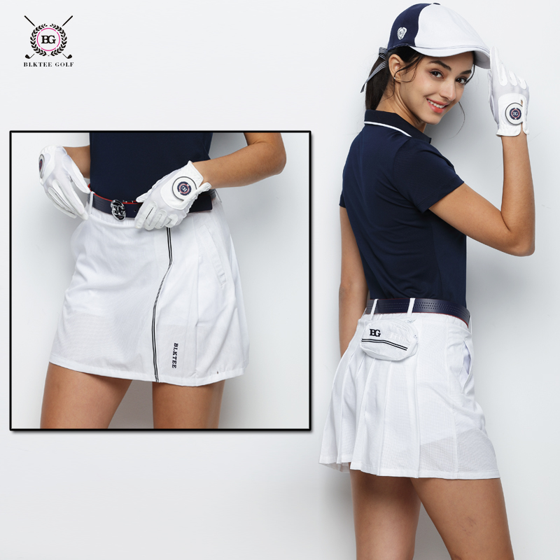 BLK Tee golf skirt lady summer outdoor golf skorts female spring golf apparel breathable girl golf sports shorts skirts 3 colors blktee new golf winter skirts wool thicken thermal short skirt autumn sportswear white navy stripped bright 2 colors s xl lady