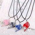 Julie anime fairy tail logo 4 cores logotipo colares pingente medalhão flutuante colar mulheres homens jóias acessórios de moda