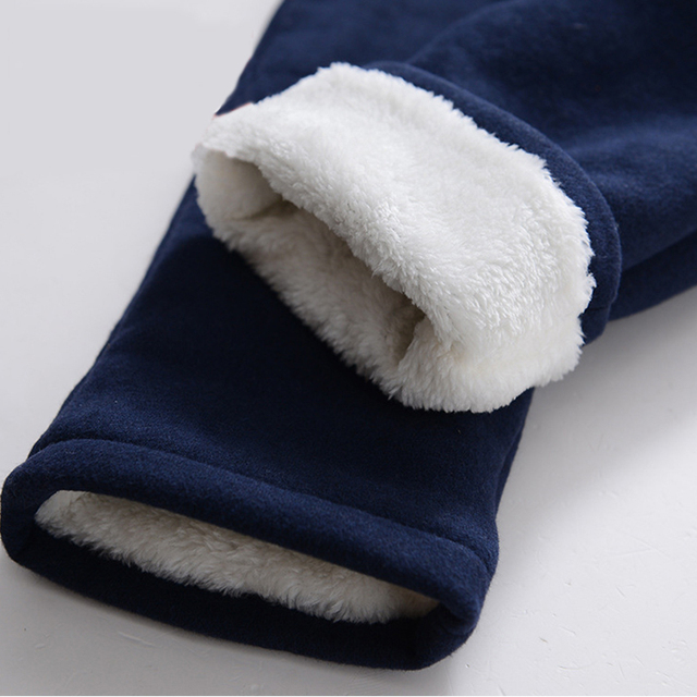 New 2018 Children Clothing Boys Winter Pants With Fleece Warm Long Trousers For Boys Thickening Pants Kids Clothes 5-14 Years