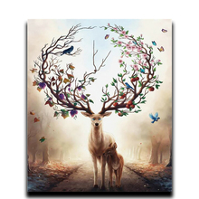Diamond Painting Cross Stitch Home Decor  square drill mosaic full cover Canvas Embroidery The deer horns