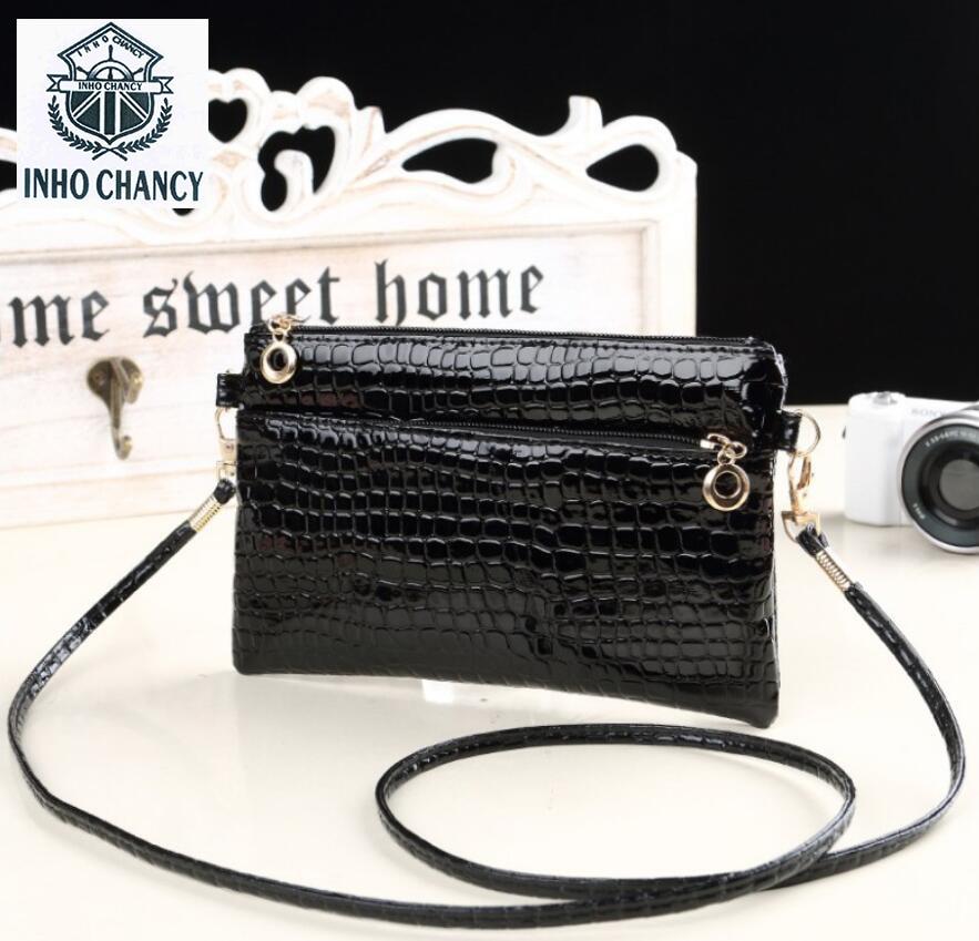 2017 Leather Zipper Handbags Women Wedding Clutches Ladies Crocodile  Pattern Party Purse Famous Designer Shoulder Messenger
