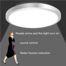 Led Ceiling Lights lamp Radar Induction/Human Sensor/Sound control Led Ceiling Lights Bathroom Fixtures living room Lighting(China)