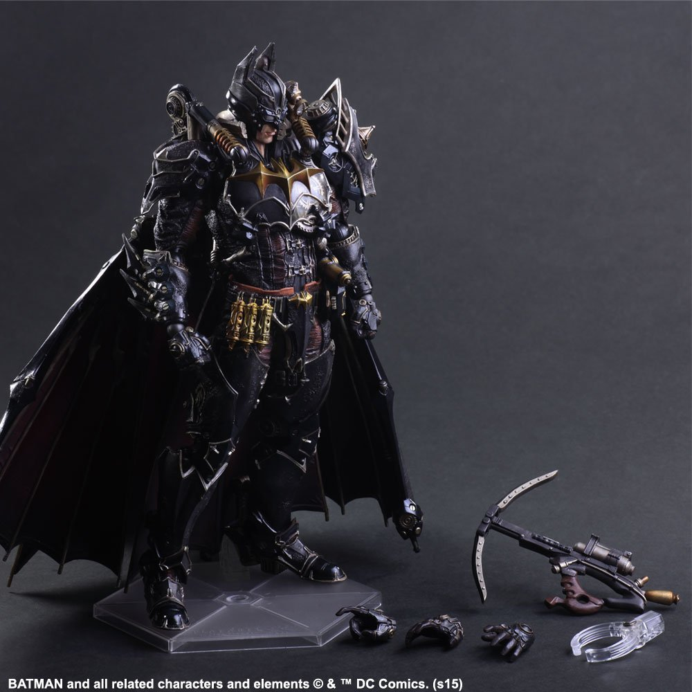 Steampunk Batman Play Arts Kai Action Figure PVC Toys 270mm Anime Movie Model Steampunk Bat Man Playarts Kai gogues gallery two face batman figure batman play arts kai play art kai pvc action figure bat man bruce wayne 26cm doll toy