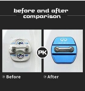 Image 5 - 4pcs Car Styling Auto Door Lock Cover Car Sticker Case For Infiniti FX35 Q50 Q30 ESQ QX50 QX60 QX70 EX JX35 G35 G37 EX3