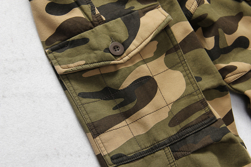 Winter Thicken Fleece Army Cargo Tactical Pants Overalls Men's Military Cotton Casual Camouflage Trousers Warm Pants 12
