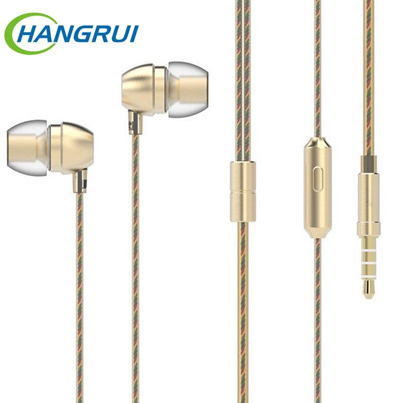 Originale HM7 Wired Cuffie Super Bass Auricolare Stereo In Metallo Con Microfono 3.5mm Universale Per iPhone 6 s Xiaomi Samsung MP3