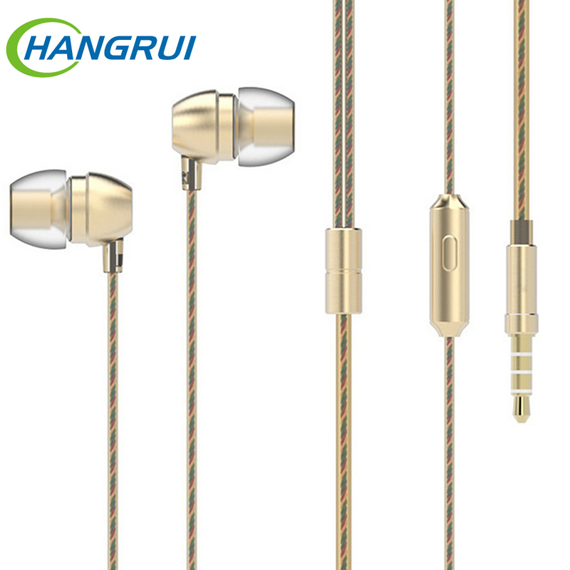 Originale HM7 Wired Cuffie Super Bass Auricolare Stereo In Metallo Con Microfono 3.5mm Universale Per iPhone 6 s Xiaomi Samsung MP3