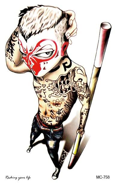 Small Art Tattoo Designs: Wholesale Body Tattoo 19X12cm Large Monkey Tattoos New