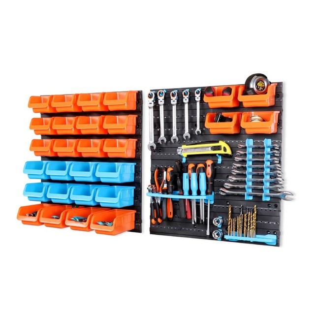 Charmant New Wall Mounted Storage Bin Rack Tool Parts Garage Unit Shelving Organiser  Box