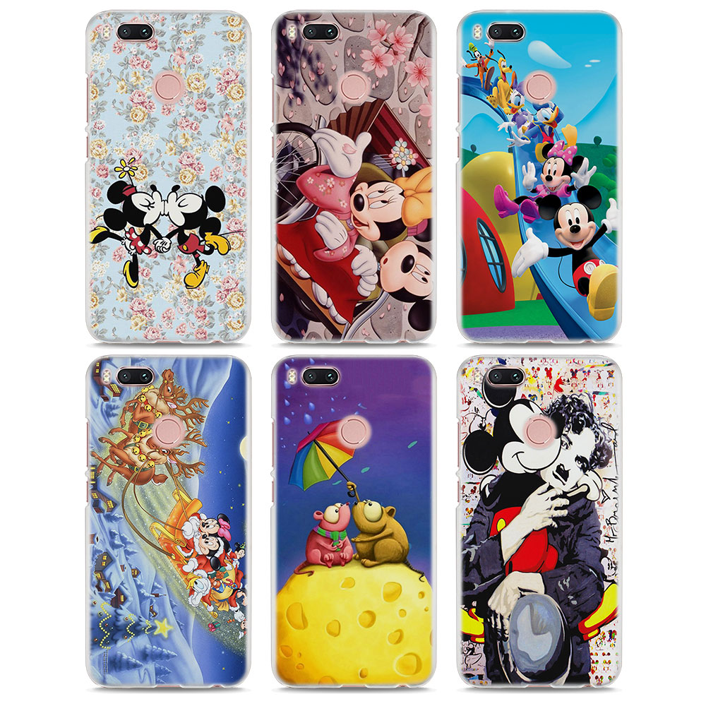 BiNFUL Kissing Mickey Minnie Mouse hard White Cellphone Case for Xiaomi Mi A1 6 5s Note3 for Redmi 5 5X 5A 4 4X Note4 4X