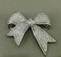 Bowknot Jewelry Accessories DIY 925 Sterling Silver With Zircon Free Shipping