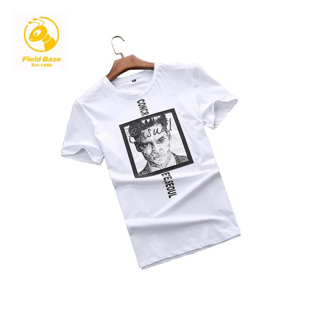 Field Base Super Men Tshirt O-neck Tees Summer T-Shirt Fitness Male Cotton Print T Shirt Plus Size 6XL Leisure Men T-Shirt Short