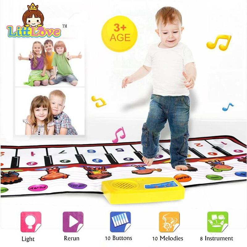 LittLove 40x100cm Bahan Kalis Air Bayi Main Tikar Mat Muzik Bayi Kanak-kanak Soft Rug Bayi Karpet Mainan Kanak-kanak Sebagai Hadiah Untuk Kanak-kanak