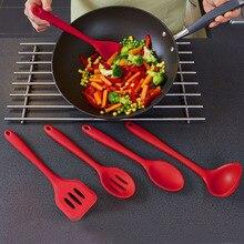 5 stücke Silikon Geschirr Anzug Küchenhelfer Set Spatel Löffel Schlitz Drehen Silikon Kuchen Werkzeug