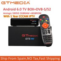 Dutch French IPTV Box GTS PRO Android TV Box with 1500+ 1 Year IPTV Europe Football Channels Smart Box H.265 Satellite Receiver