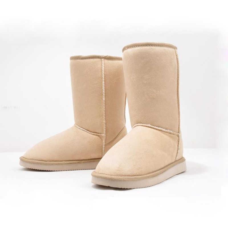 2019 SıCAK Satış Euro35-40 Kısa Slip-on Yumuşak Buzağı Yumuşak Akın Kaymaz Kar Botları Kadın Kış çizmeler Kadın kar ayakkabıları