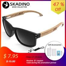 Wood Men Sunglasses Polarized UV400 SKADINO Beech Wooden Sun
