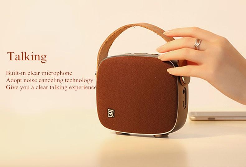 Portable Desktop Speakers Wireless Bluetooth Speaker Remax RB-M6 HIFI Handsfree Design fm radio soundbar for smart phone (13)