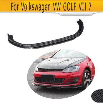 탄소 섬유 자동차 앞 범퍼 립 스포일러 VW 골프 7