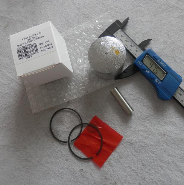PISTON KIT 47.5MM FOR ZENOAH G621 2 STROKE 62CC CHAINSAW CYLINDER ASSEMBLY W/ KOLBEN RING SET PIN CLIP CHAIN SAW PARTS