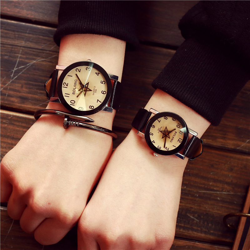 2018 New Hot Sale Brand Magic Star Black White Analog Quartz Bracelet Watch Wristwatches For Women Girls Men Lovers Women's Watches