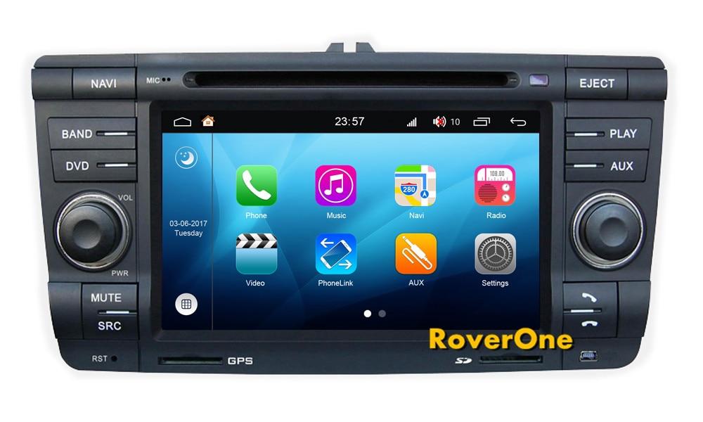 RoverOne Android 8.0 Car Multimedia System For Skoda Yeti Octavia Laura Radio DVD GPS Navigation Media Music Player PhoneLink